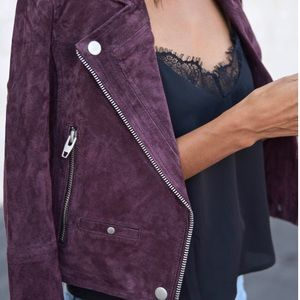 {NEW} Blank NYC | SL8 ✨ Plum Real Suede Jacket